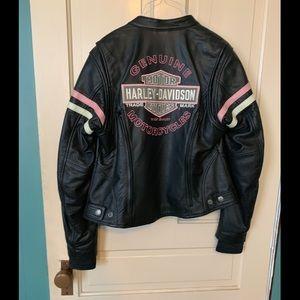 Harley Davidson leather jacket.